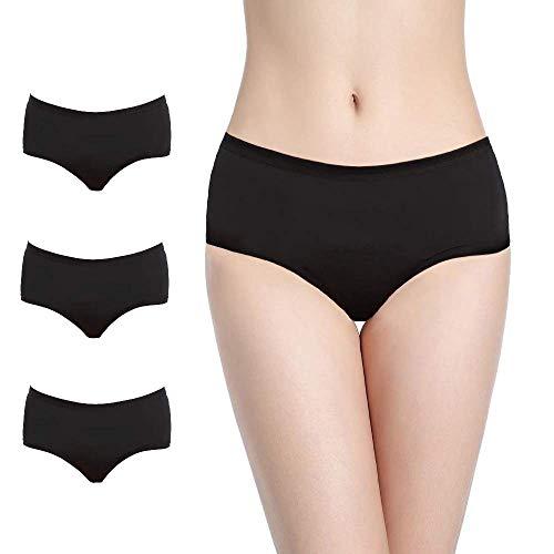 NoBlood Bragas Menstruales absorbentes= 3 tampones - Lavables - Algodón - Ecológicas - Menstruación - Bragas de Reglas Flujo Periódico de moderado a abundante- Incontinencia (Ultra-Pack, XXL)