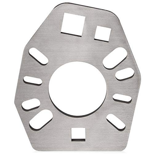"""Stainless Steel Pinion Yoke Wrench Tool - Extra Strength Puller for Loosening Pinion Flange and Nuts - Extra 1/2"""" Hole that Fits Most Sockets - Works with Various Style Yokes, Flanges, or Axles"""
