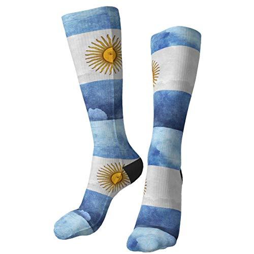 Bert-Collins Novedad Calcetines de tripulación Bandera de Argentina Retro Vestido suave Calcetines medios Casual Atlético para hombres Mujeres