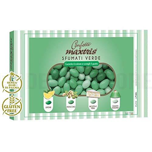 MAXTRIS | Confetti Italiani di Mandorla | SFUMATO VERDE 4 GUSTI | 1 Kg.