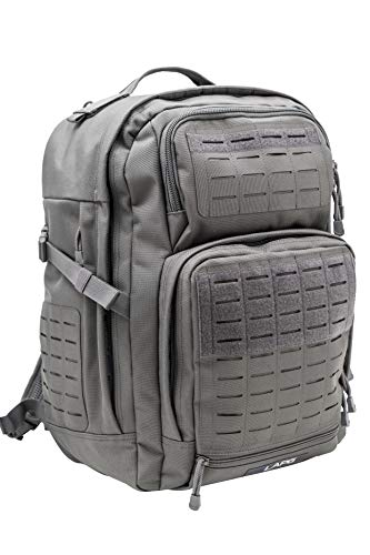 LA Police Gear Atlas 24H MOLLE Tactical Backpack for Hiking, Rucksack, Bug Out, or Hunting - Grey