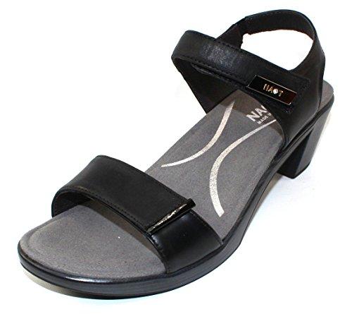 Naot Footwear Women's Intact Oily Coal Nubuck/Black Raven Lthr/Black Luster Lthr Heel...