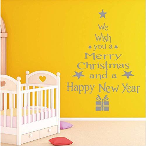 43X58Cm3D Feliz Navidad Árbol De Navidad Pegatinas De Pared Decoración Del Hogar Misceláneas Tienda Ventana Calcomanías De Vidrio Decoración De Fiesta De Navidad Decoración De Dormitorio E