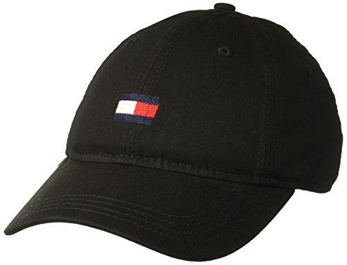 Tommy Hilfiger Mens Ardin Dad Hat, Black, One Size