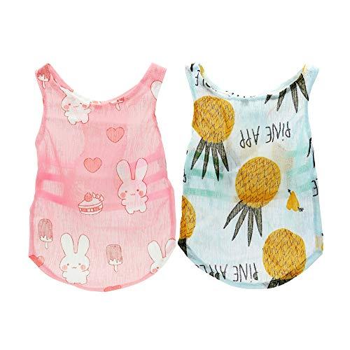 YAODHAOD Hundekleidung, süßes Shirts, Hund Sommer T-Shirt für kleine Hunde, Sonnenschutz Hunde-Shirt, Outfits für hawaiianischen Urlaub(XL)
