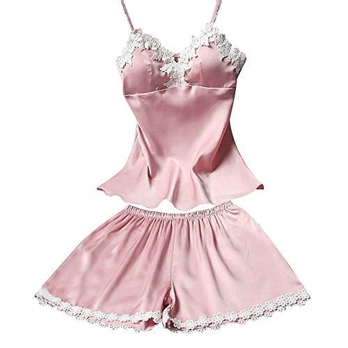 Lurcardo Sexy Dessous Erotic Set Damen Nachthemd Damen Satin Schlafanzüge Sommer Pyjama Sexy Kurze Nachtwäsche Negligee Wäsche Set