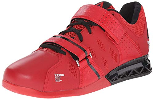 Reebok Men's R Crossfit Lifter Plus 2.0 Training Shoe, Black/Excellent Red/Flat Grey, 11 M US