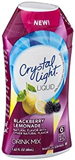 Crystal Light Liquid Drink Mix Blackberry Lemonade Flavor 1.62 OZ (Pack of 12) by Crystal Light