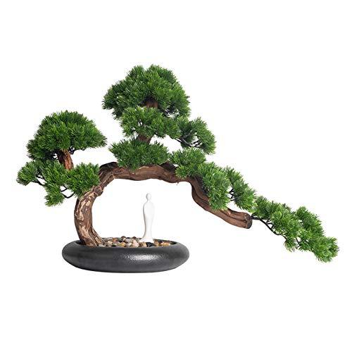 Bonsai Artificial Plantas de la casa artificial de la casa artificial de los árboles artificiales en la olla de cerámica for la decoración interior de la oficina en el hogar plantas falsas Plantas Art
