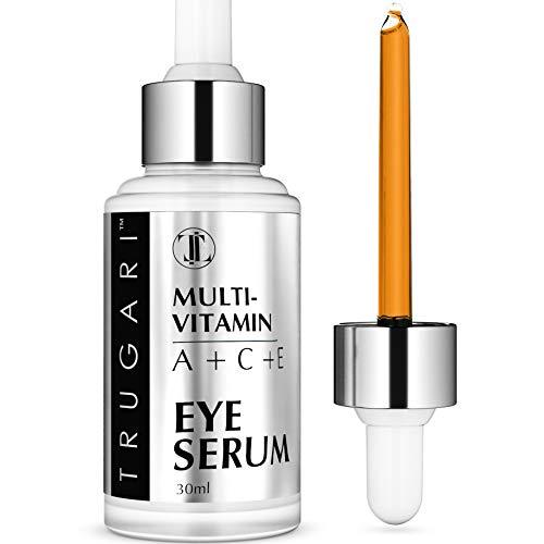 my anti aging eye serums Multi-Vitamin (A + B + C + E) Eye Serum - Anti Aging Wrinkles For Bags & Dark Circle - Fine Lines and Circles Under Eyes Puffiness Puffy Eyes Applicator Gel - Women Men Sensitive Skin
