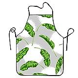 Eastlif Delantales Delantal de Cocina con Hojas de Lunares Blancos para cocinar Jardinería Impermeable Durable y Traje para Hombres Mujeres Babero de diseño Creativo
