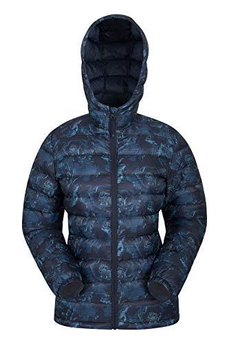 Mountain Warehouse Seasons Gefütterte Damenjacke - Wasserbeständige Winterjacke, Fronttaschen, verstellbare Bündchen und Kapuze mit Elastik Blau 32