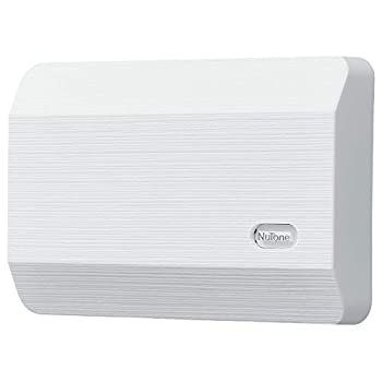 Broan-NuTone LA11WH Wired Doorbell Decorative Two-Note Door Chime for Home 2.38  x 8.13  x 5.5  White