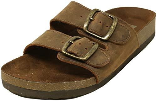 WHITE MOUNTAIN Shoes Helga Women's Sandal, Brown/Leather, 9 M