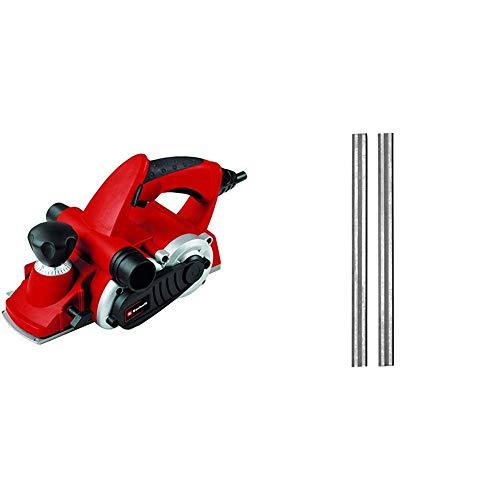 Einhell Elektrohobel TE-PL 900 (900 W, bis 3 mm Spantiefe, große Messerwelle, Fußplatte mit 3 V-Nuten, Softgrip, inkl. Parallelanschlag, Falztiefenanschlag, inkl. Zwei Wendemesser)