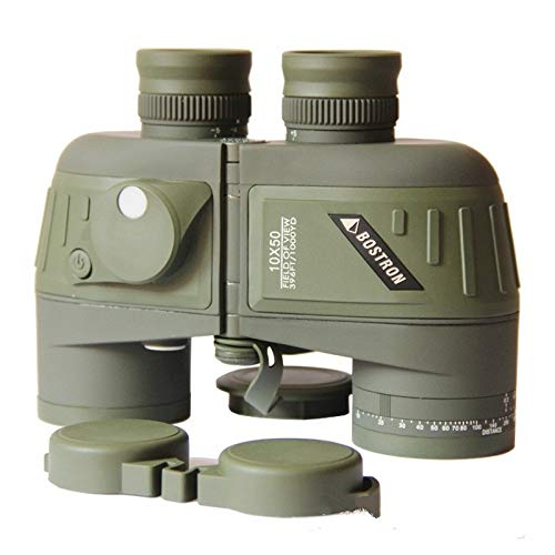 High Power Military Binoculars Telescope LLP Bostron Telescope High-Definition Navigation Floating 10X50 with Compass Waterproof Ranging Low Light Level Night Vision Binoculars