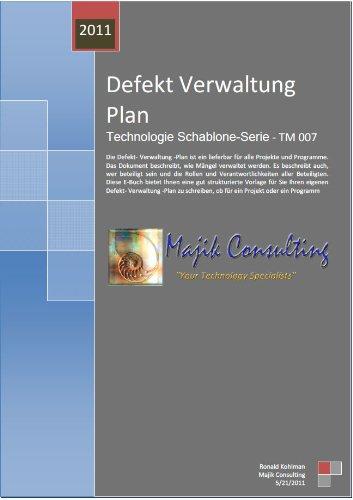 Defekt Verwaltung Plan (Technologie Schablone-Serie)