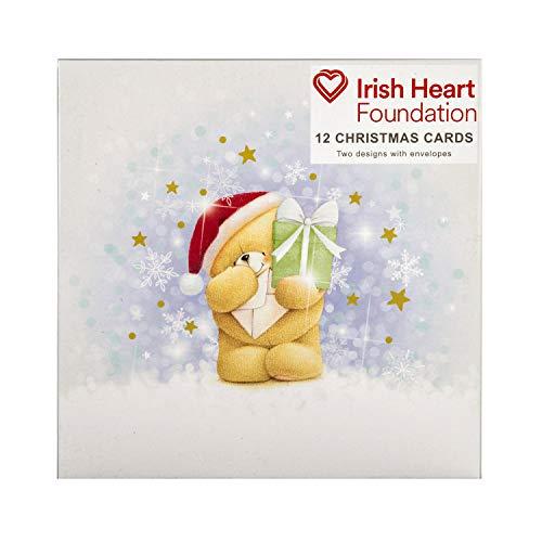 Hallmark Forever Friends - Biglietti di Natale in confezione da 12 carini disegni, per la beneficenza