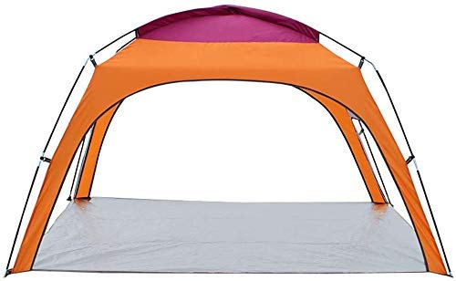 WY-YAN 3-4 People Outdoor Sun Shelter Waterproof Shade Canopy Instant Tent for Beach Gazebo Backpacking Rainfly (Color : Orange)