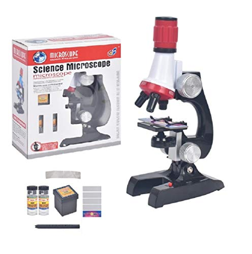 Science Kits for Kids Microscope,LED 100X, 400x, and 1200x Magnification Kids Science Toys,Educational Toy Birthday