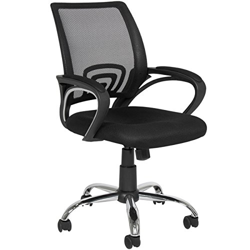 Best Choice Products Ergonomic Mesh Office Desk Chair, Rolling Mid Back Home Office Computer Task Chair, 360 Swivel w/Metal Base for Stability - Black