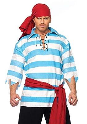 Leg Avenue Men's Pillaging pirate, Blue/White, Medium/Large