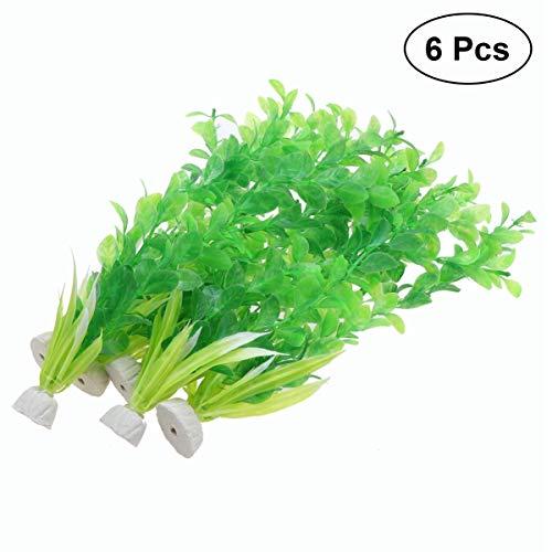 Balacoo Kunststoff gefälschte wasserpflanzen Kunststoff künstliche lebensechte dauerhafte Reis Modell gefälschte wasserpflanzen für Aquarium Dekoration Aquarium