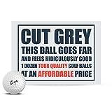 Cut Grey Golf Balls, 3 Piece Urethane (One Dozen)