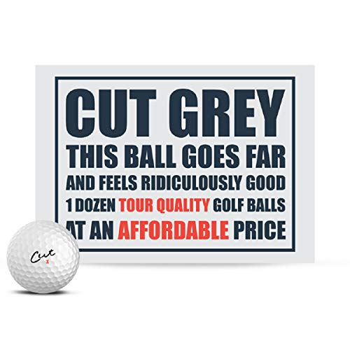 Cut Grey Golf Balls, 3 Piece Urethane (One Dozen)