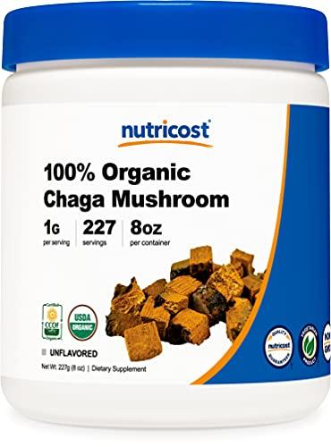 Nutricost 100% Organic Chaga Mushroom Powder 8oz...