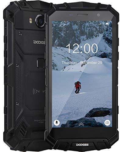 DOOGEE S60 Lite Móviles Todoterreno Resistentes 4G, Android 8.1 Movile Libre Antigolpes IP68 Impermeable 5,2 Pulgada Octa-Core 4GB+32GB, 5580mAh, 16.0MP+8.0M Cámara, Carga Inalámbrica NFC, Negro
