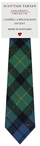 I Luv Ltd Garçon Tout Cravate en Laine Tissé et Fabriqué en Ecosse à Campbell of Breadalbane Ancient Tartan