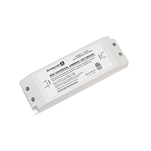 Armacost Lighting 840600 60 watt LED Power Supply Dimmable Driver, White
