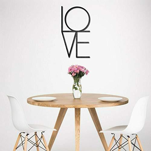 KESTEX XL Metall WANDBILD Love Schriftzug Wall Art 30 x 50 cm SCHWARZ Wand DEKO Moderne Premium WANDDEKORATION WANDKUNST