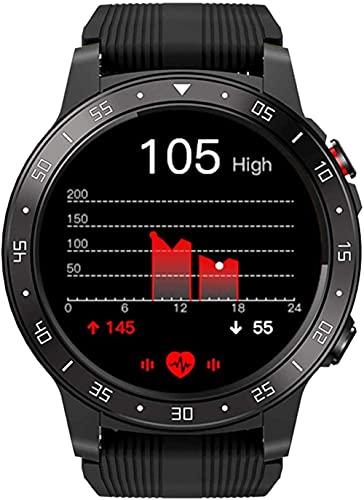 wyingj Reloj inteligente para hombres 1.3 pulgadas pantalla táctil reloj inteligente brújula GPS reloj deportivo Bluetooth llamada multi-deporte modo verde-negro