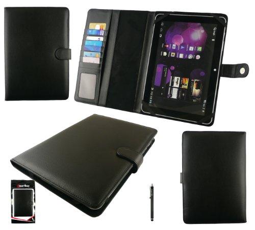 Emartbuy® Schwarz Stylus + Universalbereich Basic Case Cover Wallet Tasche Hülle Schutzhülle mit Kartensteckplätze Geeignet für HP ElitePad 1000 / HP ElitePad 1000 G2 10,1 -Zoll-Tablet