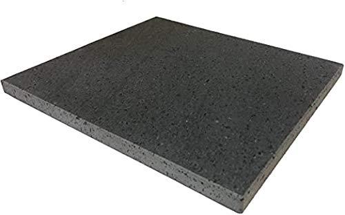Lavastein oder Speckstein, 50 x 50 cm, feuerfest, für Gas, Ofen, Grillplatte, Grillpfanne