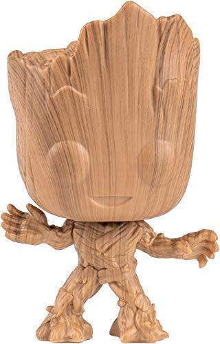 Marvel Funko Pop! – 47528 Guardians of The Galaxy – Wooden Groot – 9 cm Wackelkopffigur