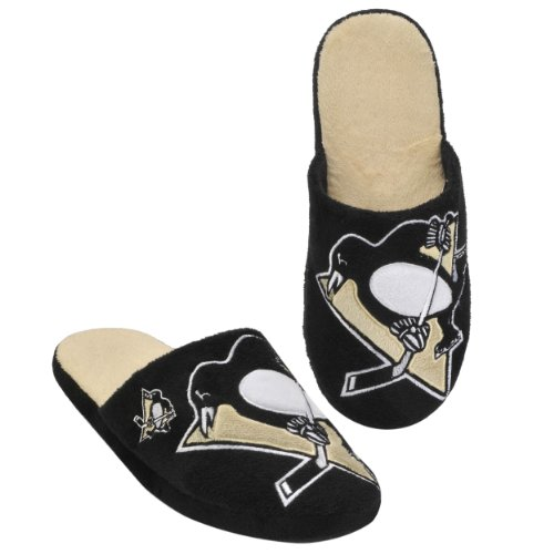 Pittsburgh Penguins 2011 Big Logo Men Slipper Tpr Sole Large