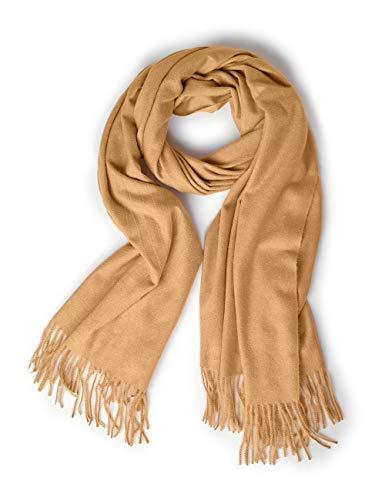 Street One Damen 570971 Schal, Beige (Cosy Camel Melange 11794), One Size (Herstellergröße:A)