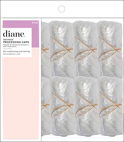 Diane Disposable Clear Processing Hair Caps, For Salons, DIY, Conditioning, Dyeing, Hair Treatments, Bag of 100, D722