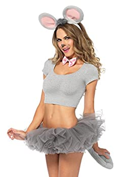 Leg Avenue Women s Mouse Ears and Tail Costume Kit Grey One Sizes Fit Most