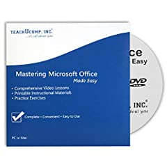 Over 42 hours of video lessons (809 individual lessons) 15 PDF instruction manuals! Practice in your software with step-by-step exercises Introductory through advanced material in Office 2016 and 2013