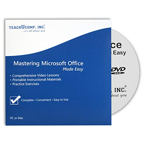 Learn Microsoft Office 2016 and 2013 - 42 Hours of Video Training Tutorials for Excel, Word, PowerPoint, Outlook, Access, OneNote and Publisher DVD-ROM Course