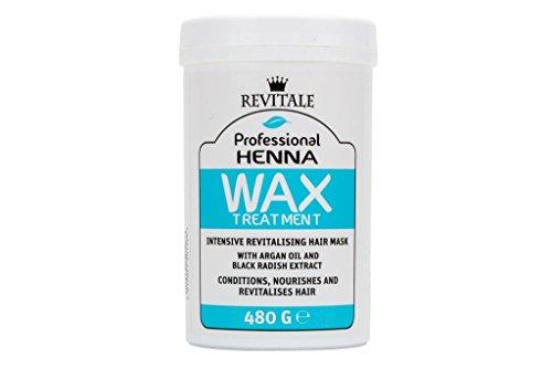 Revitale Mascarilla profesional para el cabello con cera revitalizante de henna – 480 g (1 paquete)
