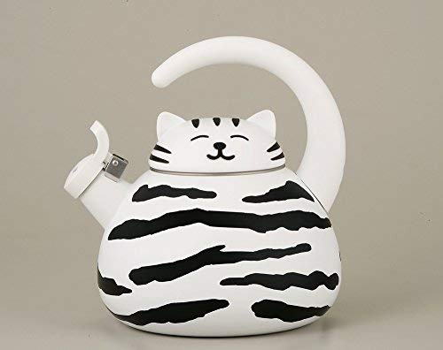 White Kitty Animal Shape Whistling Tea Kettle