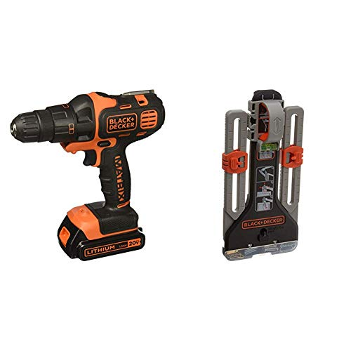 BLACK+DECKER 20V MAX Matrix Cordless Drill Combo Kit with MarkIT Picture Hanging Tool Kit (BDCDMT120IA & BDMKIT101C)