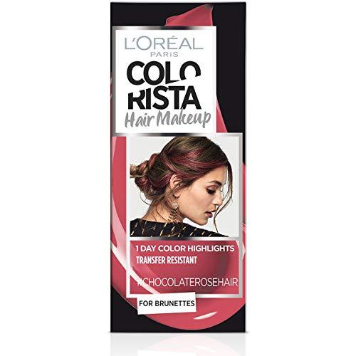 L Oréal Paris Colorista Hair Makeup Colorazione Temporanea 1 Giorno per Ciocche e Punte, Tinta per Capelli Castani, Meches Rosa Cioccolato, 30 ml
