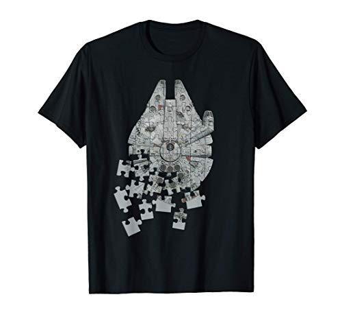 Star Wars Millennium Falcon Puzzle Camiseta