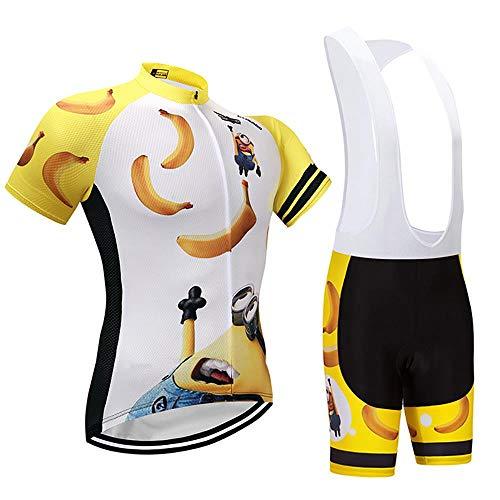 Moxilyn Fahrradtrikot Kurzarm Set für Herren Radtrikot T Shirt Radsport Radtrikot Set Fahrrad Trikot Kurzarm+Radhose mit 9D Gel,Ursprüngliche Gaze Radjacke und Radhose,Cycling Jersey Radtrikot